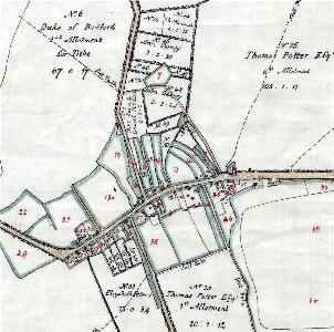 The village on the inclosure map of 1799 [MA15]